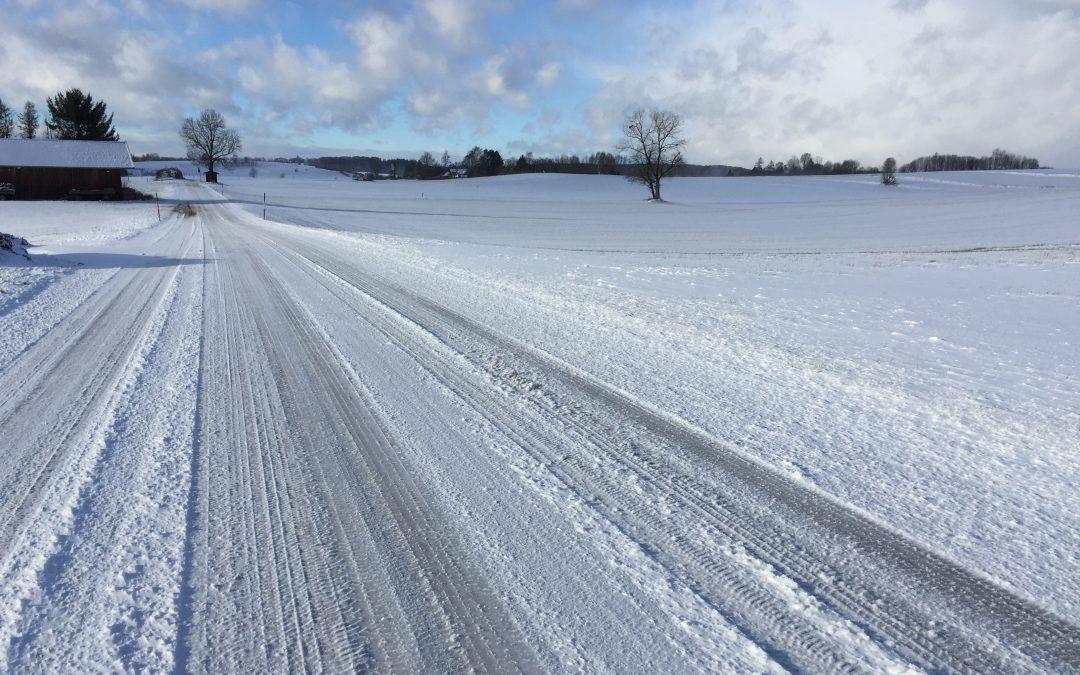 streets in wintertime